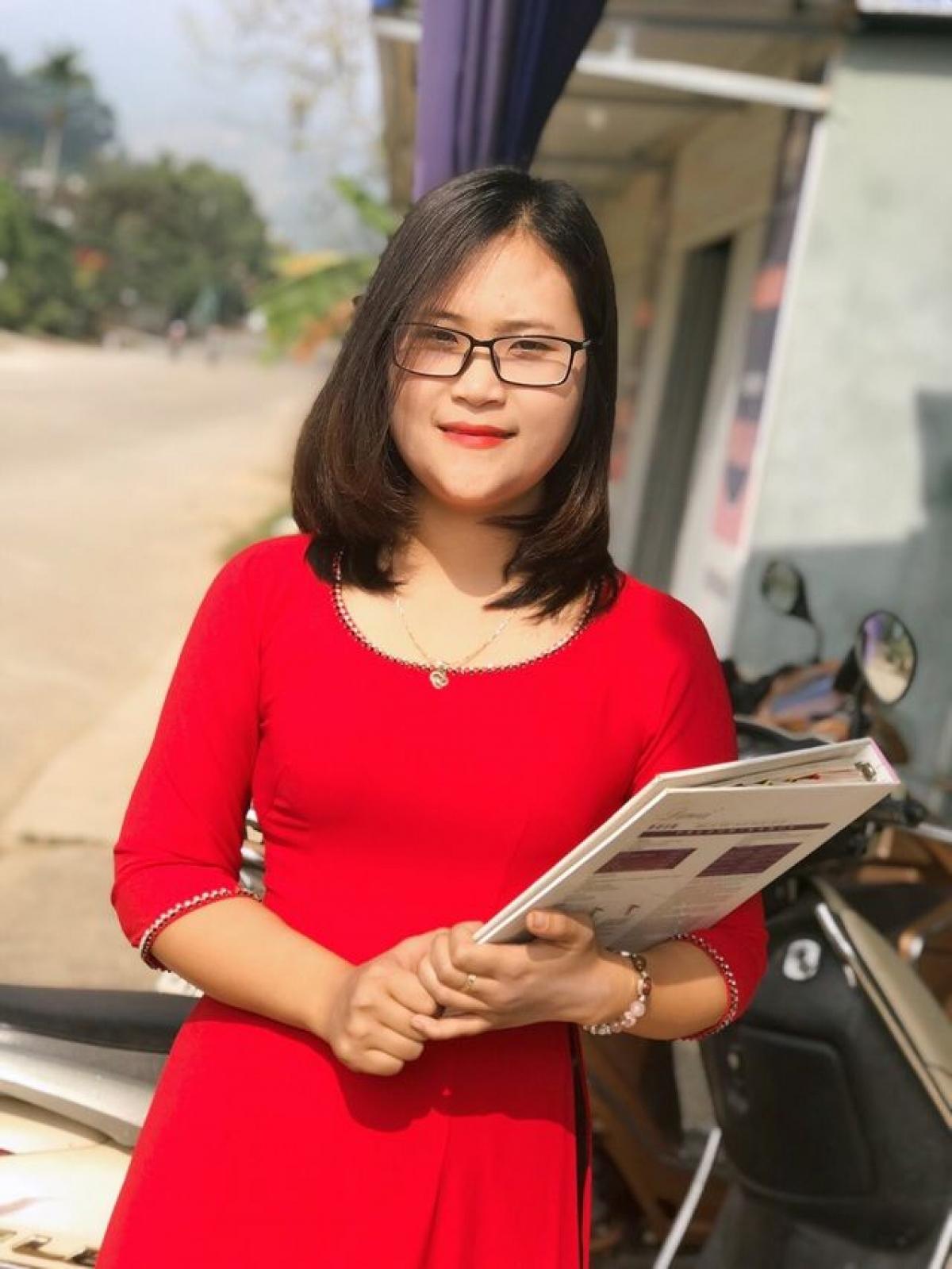 Cô giáo Hà Ánh Phượng, dân tộc Mường ở tỉnh Phú Thọ
