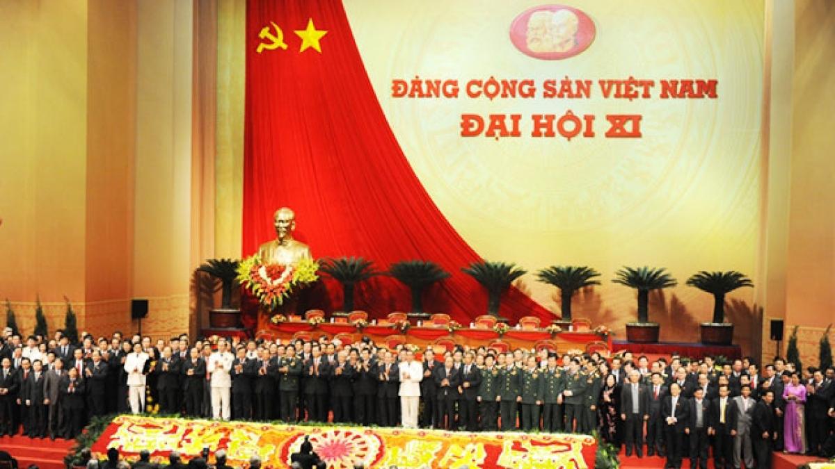 Đại hội đại biểu toàn quốc lần thứ XI của Đảng diễn ra từ ngày 12 đến ngày 19/1/2011 (Ảnh: Báo Nhân dân điện tử)