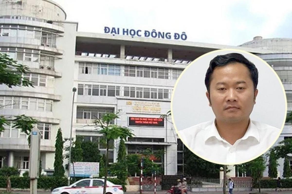 Bị can Dương Văn Hòa - cựu hiệu trưởng trường Đại học Đông Đô.