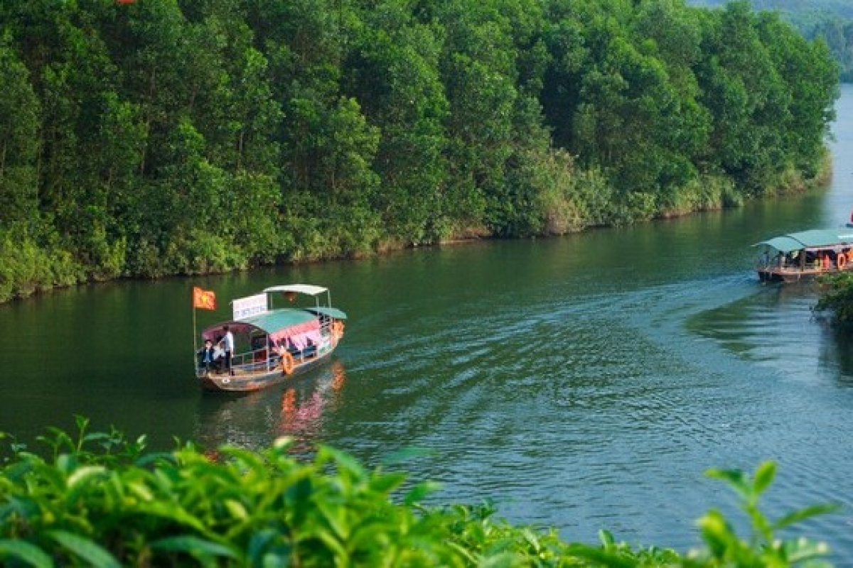 Đồi chè được bao phủ bởi Đập Cây Cau nước trong xanh tạo nên một phong cảnh vô cùng thoáng mát.