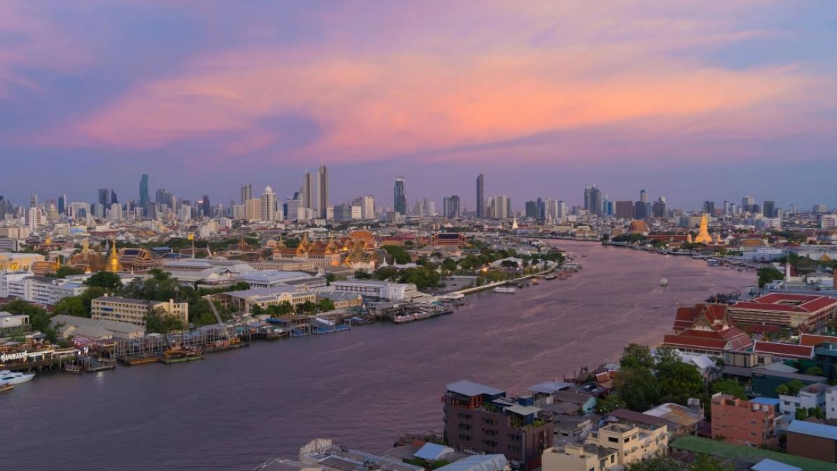 Sông Chao Phraya tại Bangkok, Thái Lan. Nguồn: CNN