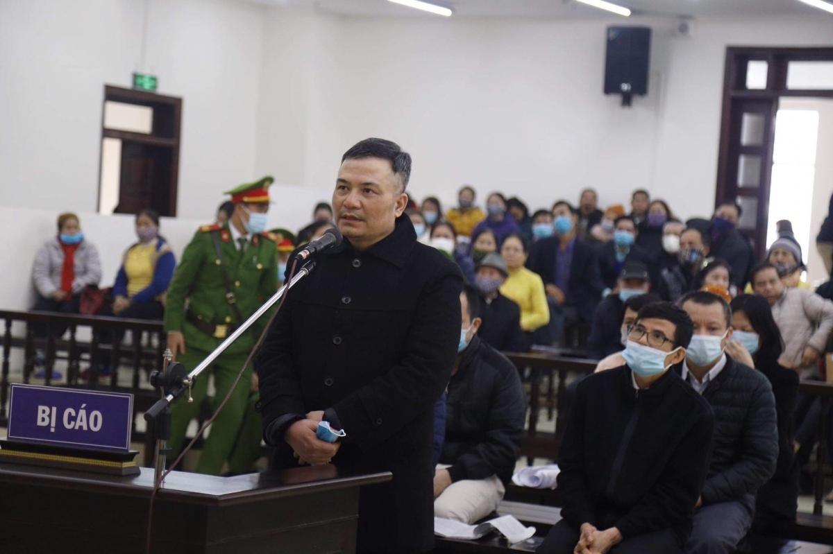 Bị cáo Lê Xuân Giang-Chủ tịch HĐQT Liên Kết Việt tại phiên xử sơ thẩm