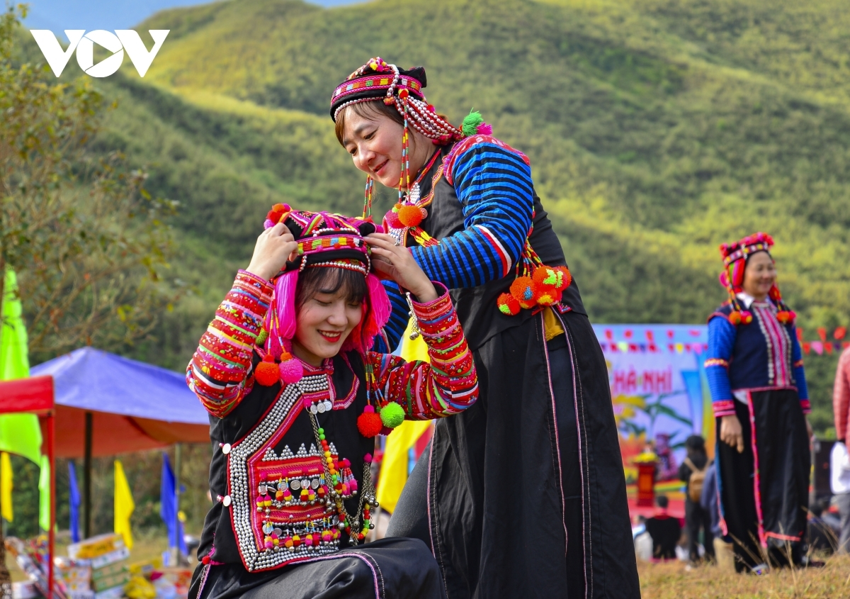 Girls don beautiful costumes as they take part in a diverse range of activities throughout the festival.