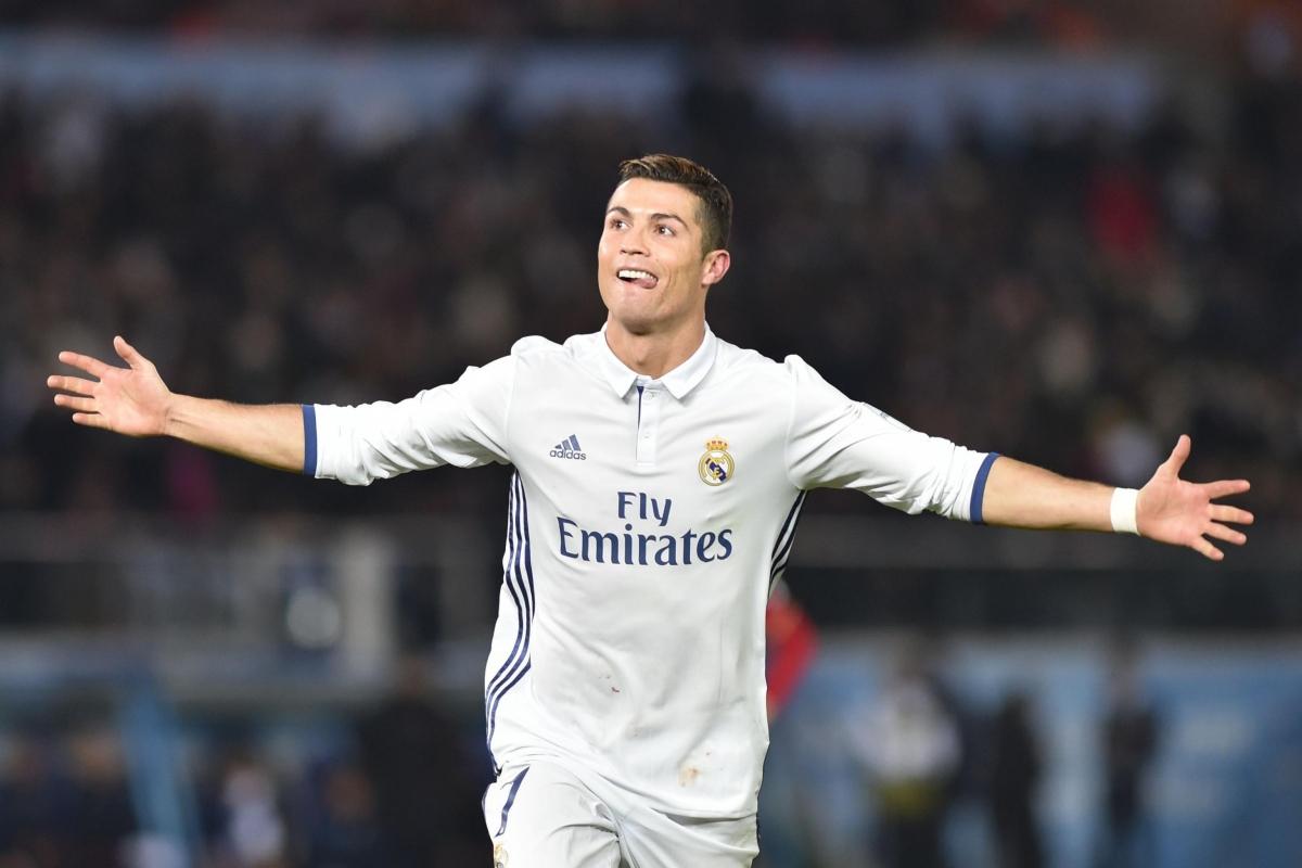 Ronaldo ghi hat-trick trong trận chung kết Club World Cup cách đây 4 năm. (Ảnh: Getty).