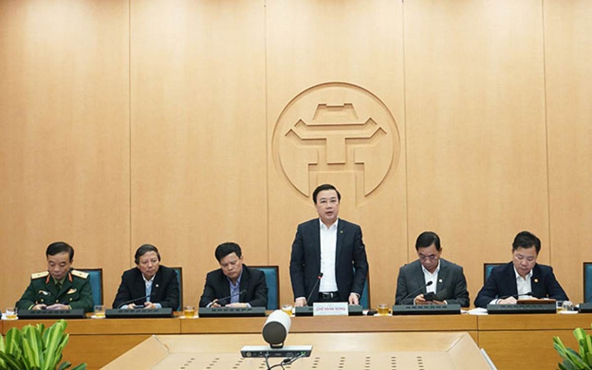 Phó Chủ tịch UBND TP Hà Nội Chử Xuân Dũng phát biểu kết luận phiên họp.