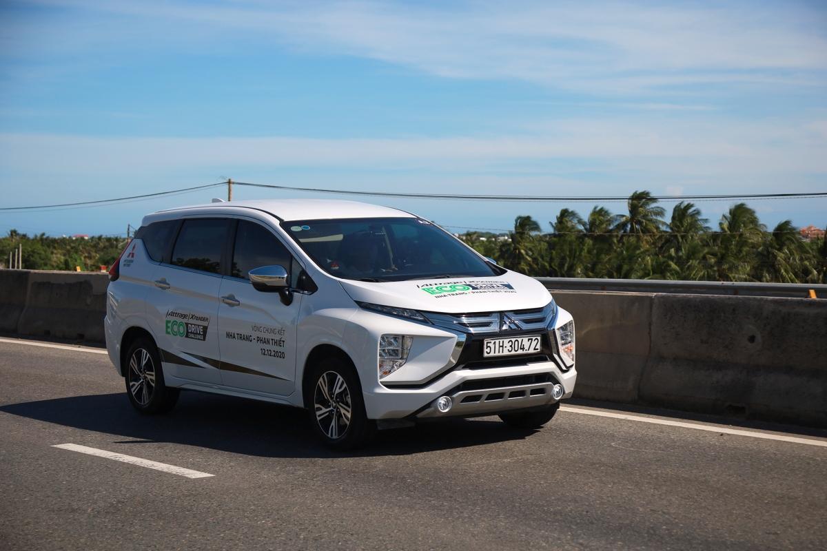 Mitsubishi Xpander gây bất ngờ khi có mức tiêu thụ nhiên liệu trung bình thấp nhất chỉ 4,23 lít/100 km.