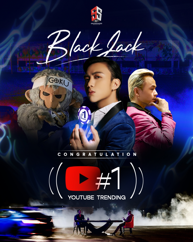 """""""BlackJack"""" của Soobin và Binz đã chiếm lĩnh vị trí số 1 top trending Youtube."""