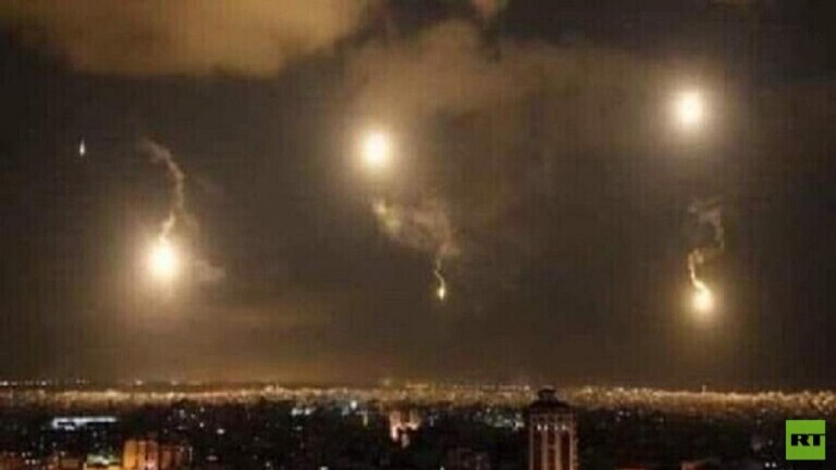 Israel không kích Syria. Ảnh: RT