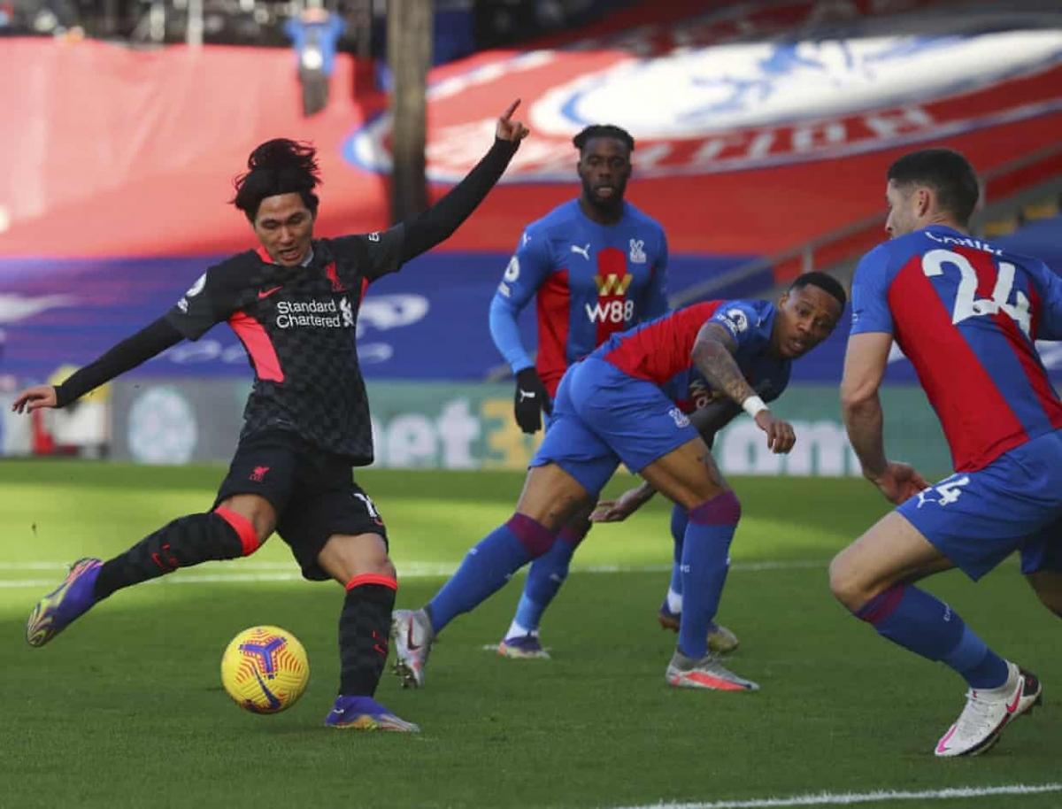 Minamino mở tỷ số cho Liverpool. (Ảnh: Getty)