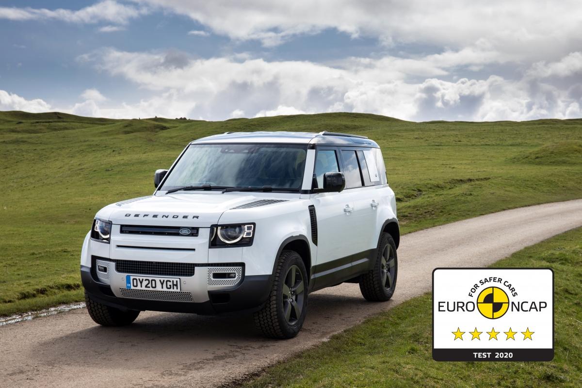 Sau bài thử nghiệmcủa Euro NCAP,Land Rover Defender phiên bản 110 đãđạt xếp hạng tổng thể năm sao về độ an toàn cho người lớn và trẻ em.