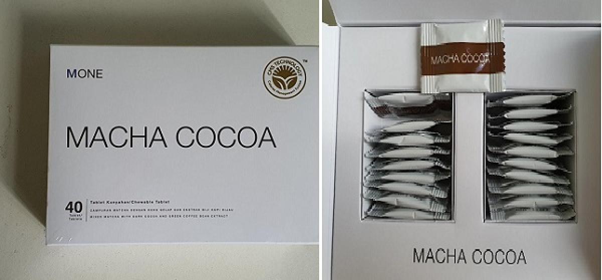 Sản phẩm giảm béo MONE Cocoa có chứa sibutramine.