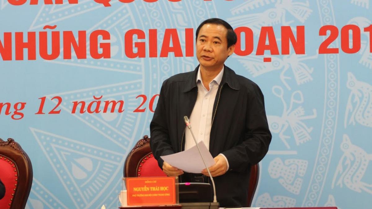 Ông Nguyễn Thái Học - Phó Trưởng Ban Nội chính Trung ương.