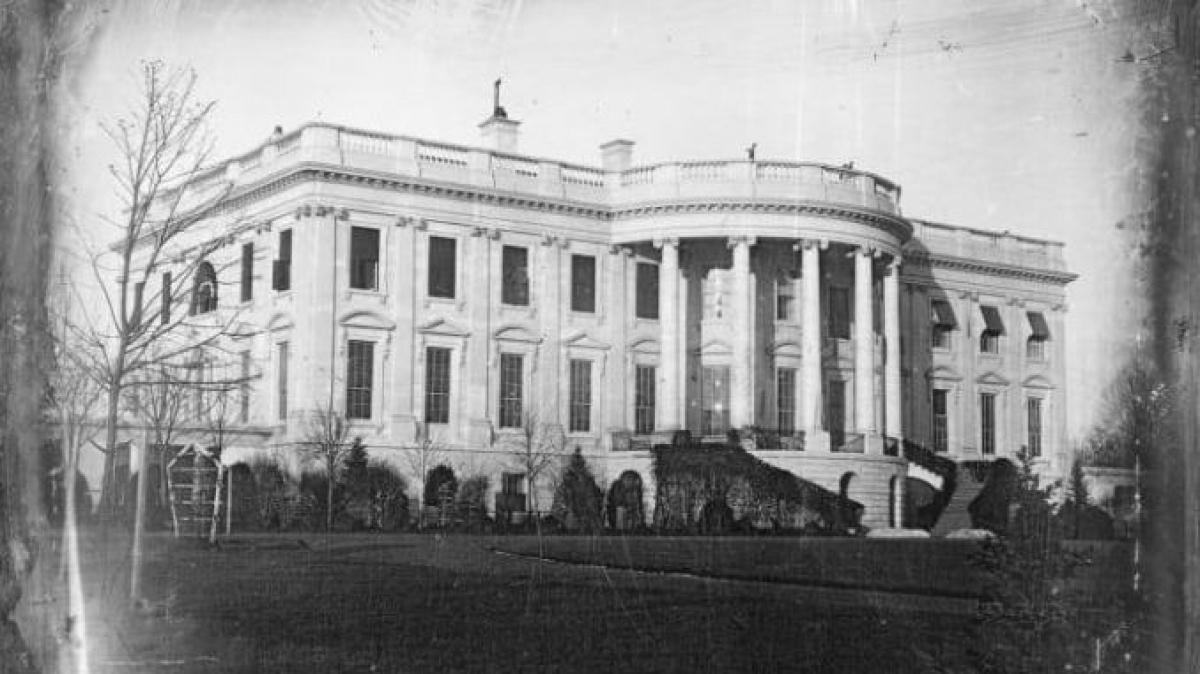 Khu vực phía nam Nhà Trắng khoảng năm 1840. Ảnh: Getty