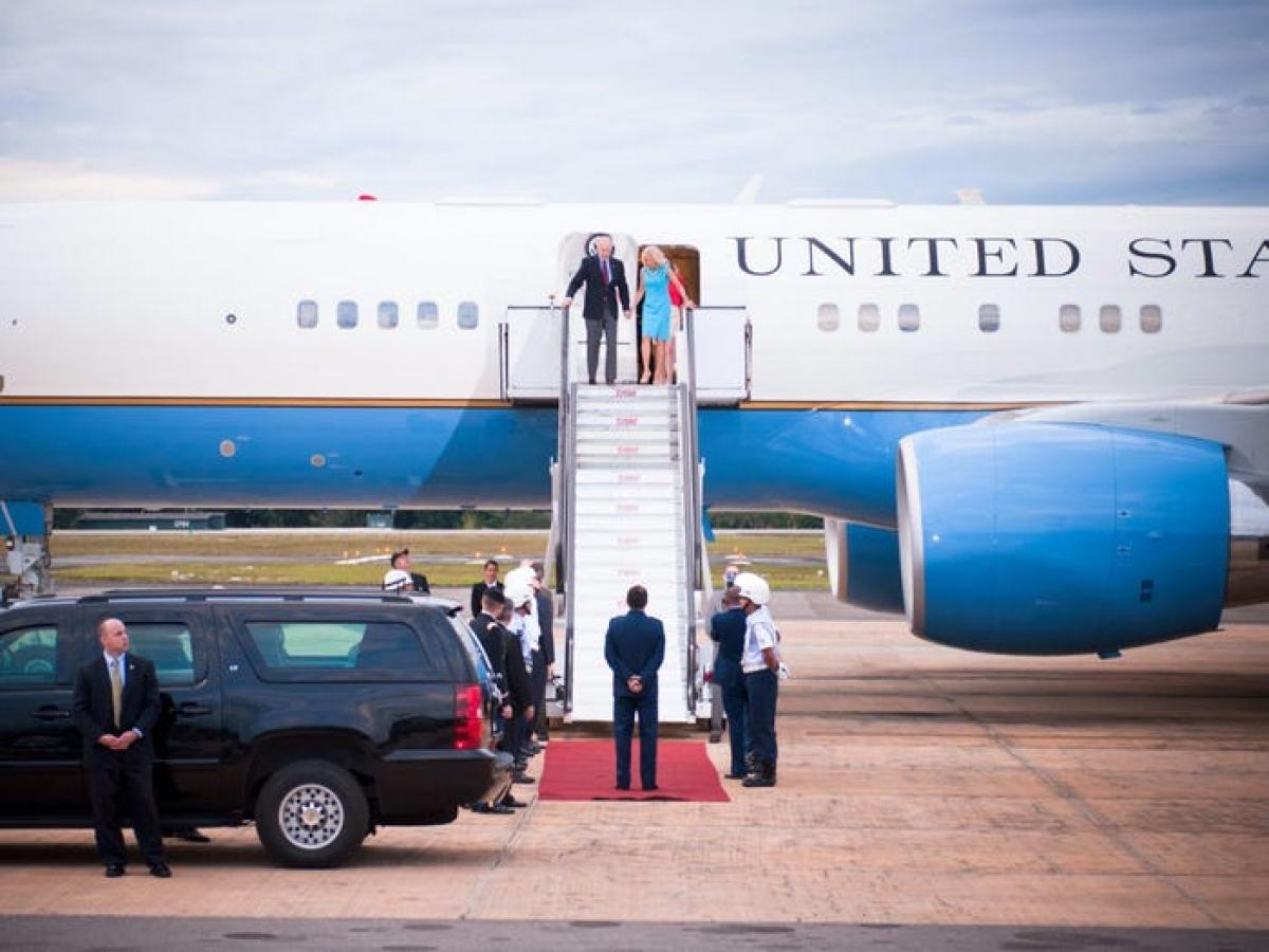 Phó tổng thống Mỹ sẽ di chuyển bằng chiếc Không lực Hai. Ảnh: Getty Images