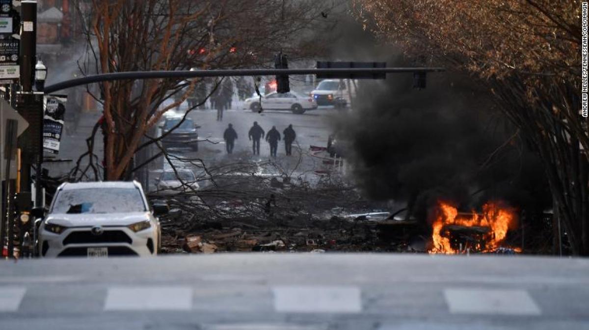 Hiện trường vụ nổ. Ảnh: Reuters.