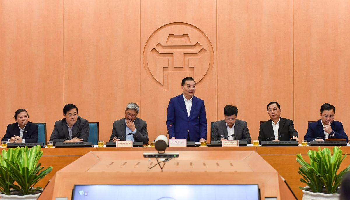 Chủ tịch UBND TP Hà Nội Chu Ngọc Anh yêu cầu đảm bảo an toàn dịch bệnh tại Thủ đô, thực hiện nghiêm các biện pháp phòng dịch Covid-19