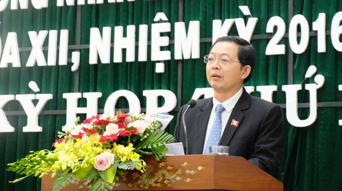 Ông Hồ Quốc Dũng, Bí thư Tỉnh ủy, tân Chủ tịch HĐND tỉnh Bình Định.