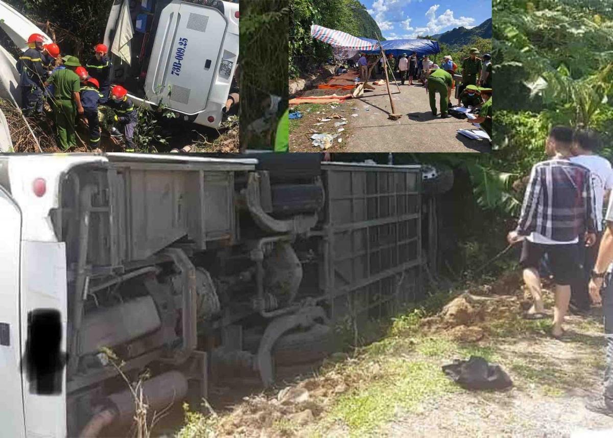 Lật xe khi đi họp lớp khiến 15 người chết, 25 người bị thương:Vào khoảng 9h50 ngày 26/7, tại Km 21+735, đường Hồ Chí Minh nhánh tây, xã Tân Trạch, huyện Bố Trạch, Quảng Bình, xe khách loại 45 chỗ, biển số 73B-009.25 do tài xế Hoàng Trung Toản (sinh năm 1993, trú tại thị xã Ba Đồn) điều khiển, khi đến địa điểm trên bị lật sang bên đường. Hậu quả, 15 người chết, 25 người bị thương. Đây là xe chở đoàn cựu học sinh Trường THPT Đồng Hới, tỉnh Quảng Bình tham gia kỷ niệm 30 năm ngày ra trường. Do tài xế Hoàng Trung Toản chưa đủ điều kiện điều khiển xe khách loại 45 chỗ. Ngay sau đó cơ quan chức năng đã khởi tố vụ án để giải quyết vụ việc.