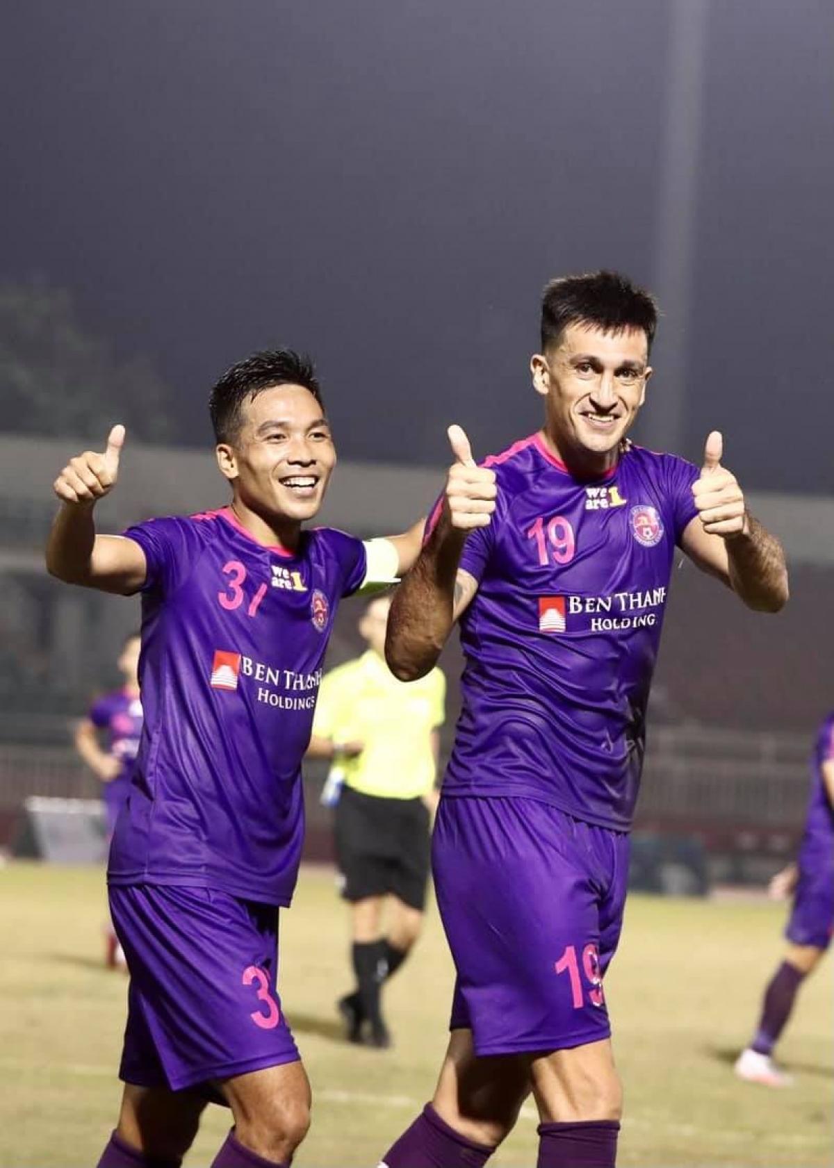 Sài Gòn FC đã có trận đấu ấn tượng khi đánh bại Hà Nội FC 3-1 trong trận mở màn giải Tứ hùng. (Ảnh: SGFC).