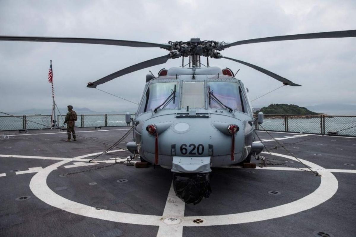 Lockheed Martin, Boeing, Northrop Grumman, Raytheon và General Dynamics của Mỹ chiếm 5 thứ hạng cao nhất. Ảnh Trực thăng Sikorsky Sh-60 Seahawk: AFP
