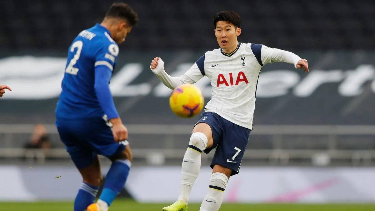 Son Heung Min mờ nhạt khiến Tottenham thua Leicester. (Ảnh: Premier League).