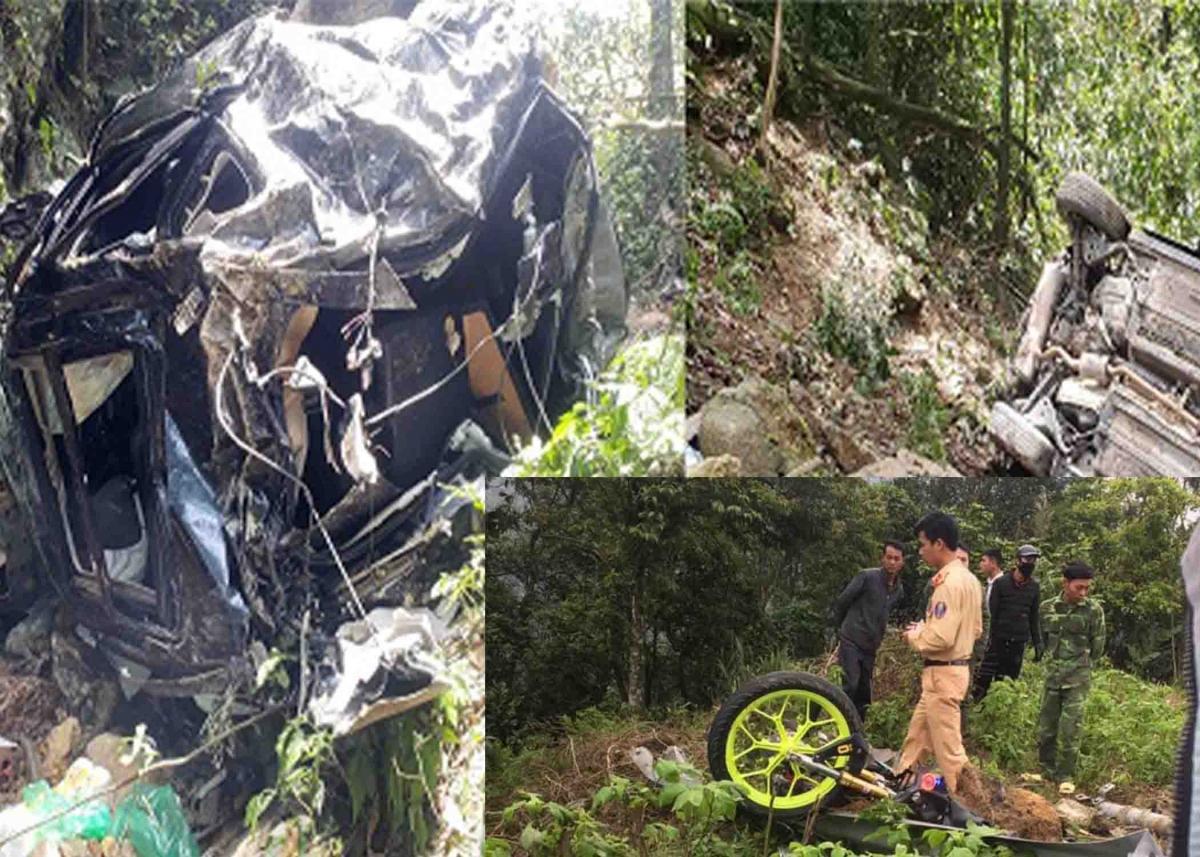 Sau va chạm ô tô lao xuống vực khiến 4 người chết 1 người bị thương ở Tam Đảo, Vĩnh Phúc:Vào khoảng 14h30 ngày 26/4, xe ô tô BKS 24A - 100.36 chở 4 người đang lưu thông trên QL2B hướng lên thị trấn Tam Đảo (Vĩnh Phúc), khi đến Km21, bất ngờ va chạm với xe máy đi cùng chiều do một nam thanh niên điều khiển. Cú đâm mạnh khiến xe ô tô lao xuống vực, 3 người trên xe ô tô tử vong, 1 người bị thương. Nam thanh niên điều khiển xe máy cũng tử vong tại hiện trường.