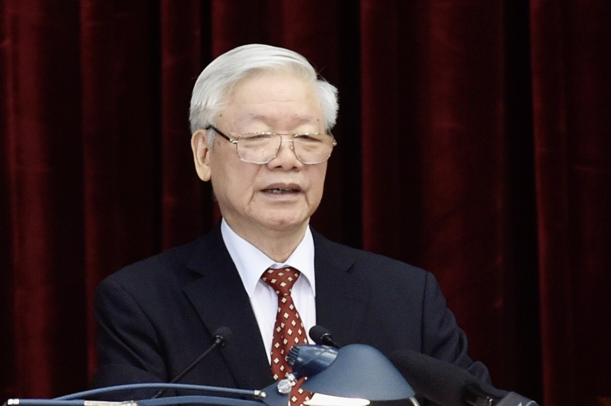 Tổng Bí thư, Chủ tịch nước Nguyễn Phú Trọng phát biểu khai mạc Hội nghị Trung ương 14.