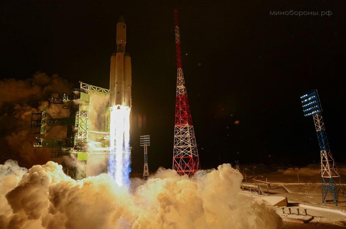 Nga đã phóng thành công tên lửa vũ trụ hạng nặng Angara A5. Ảnh: Space