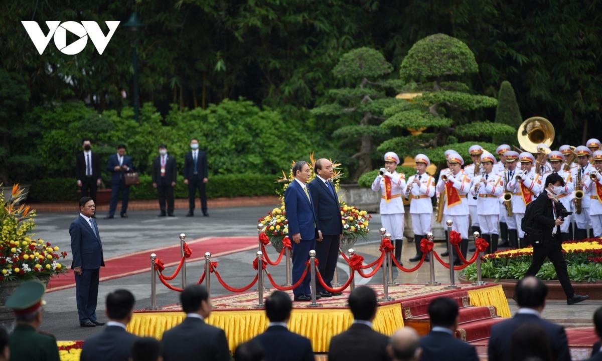 Đây là chuyến công du nước ngoài đầu tiên của ông Suga Yoshihide trên cương vị Thủ tướng Nhật Bản.