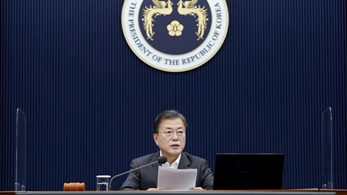 Tổng thống Hàn Quốc Moon Jae-in (Ảnh: YONHAP News)