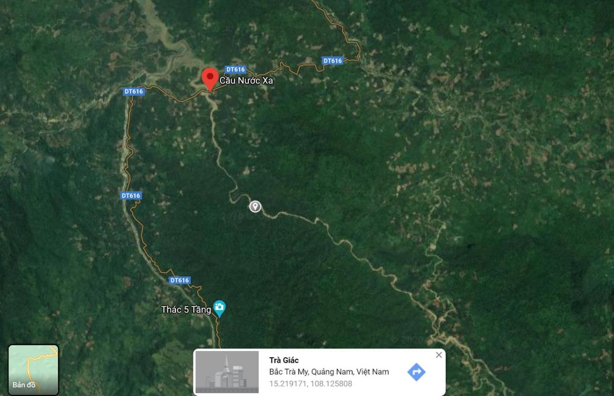 Khu vực phát hiện thi thể ở khu vực sông Nước Xa.