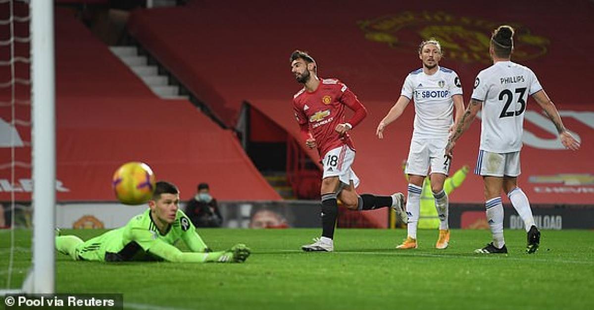 MU đang chơi thong dong trước Leeds United nhưng vẫn liên tục ghi bàn vào lưới đội khách. (Ảnh: Reuters).