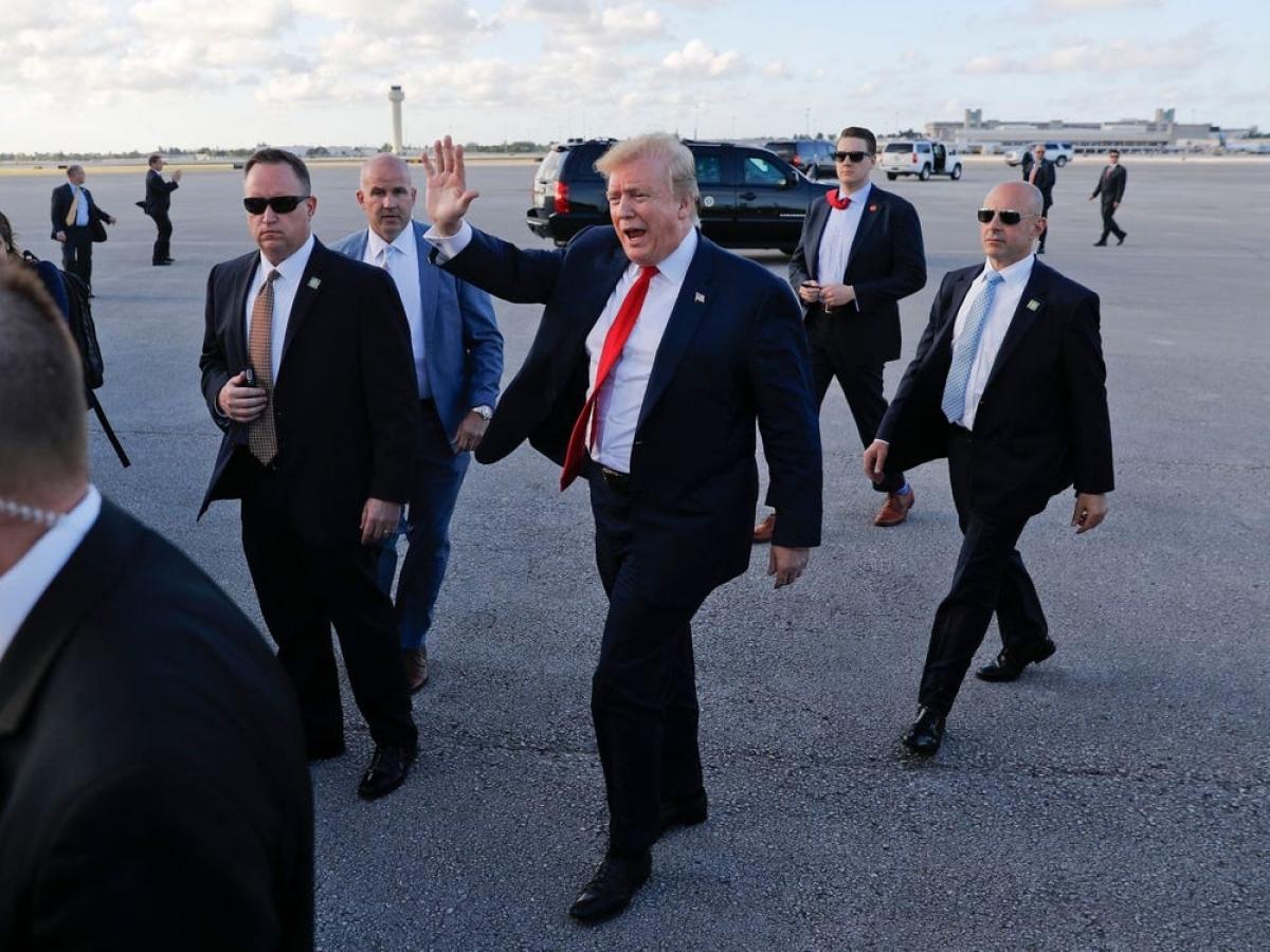 Tổng thống Trump sẽ vẫn được cơ quan mật vụ bảo vệ sau khi rời nhiệm sở. Ảnh: AP