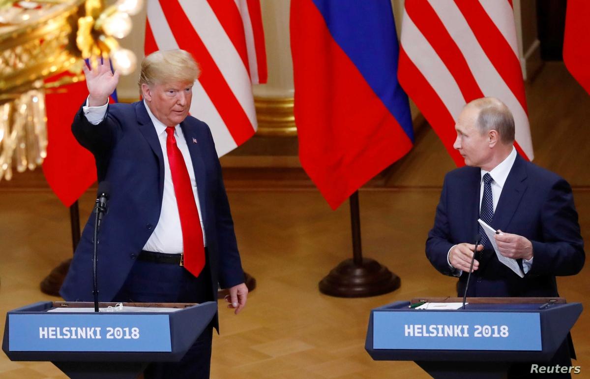 Cuộc gặp thượng đỉnh giữa Tổng thống Trump và Tổng thống Nga Vladimir Putin tại Helsinki, Phần Lan năm 2018. Ảnh: Reuters