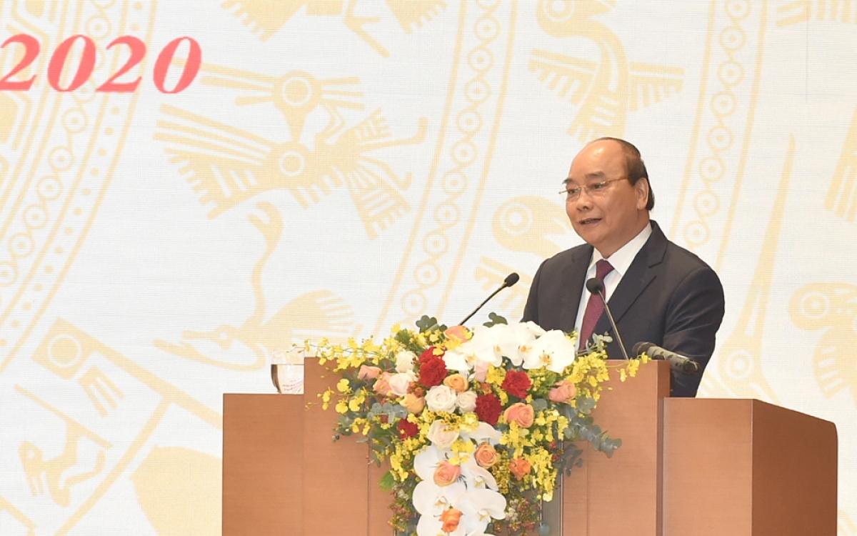 Thủ tướng Chính phủ Nguyễn Xuân Phúc phát biểu khai mạc Hội nghị. (Ảnh: VGP)