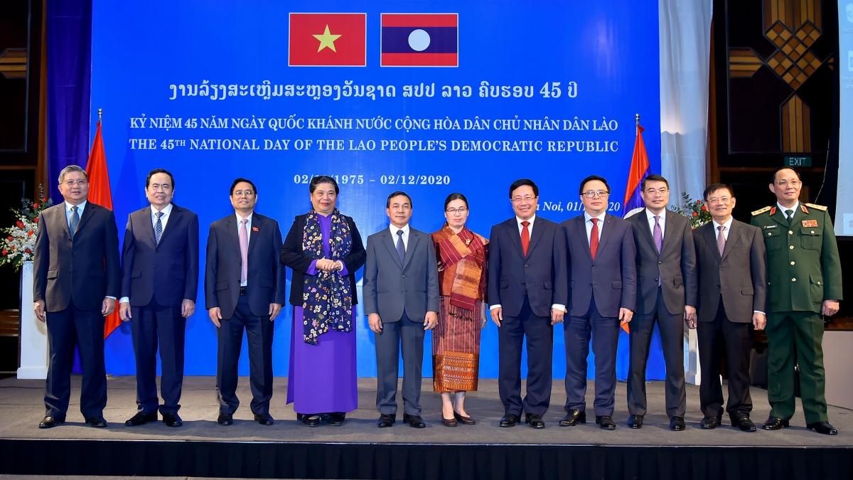 Lãnh đạo Đảng, Nhà nước dự chiêu đãi kỷ niệm thứ 45 Quốc khánh nước CHDCND Lào.