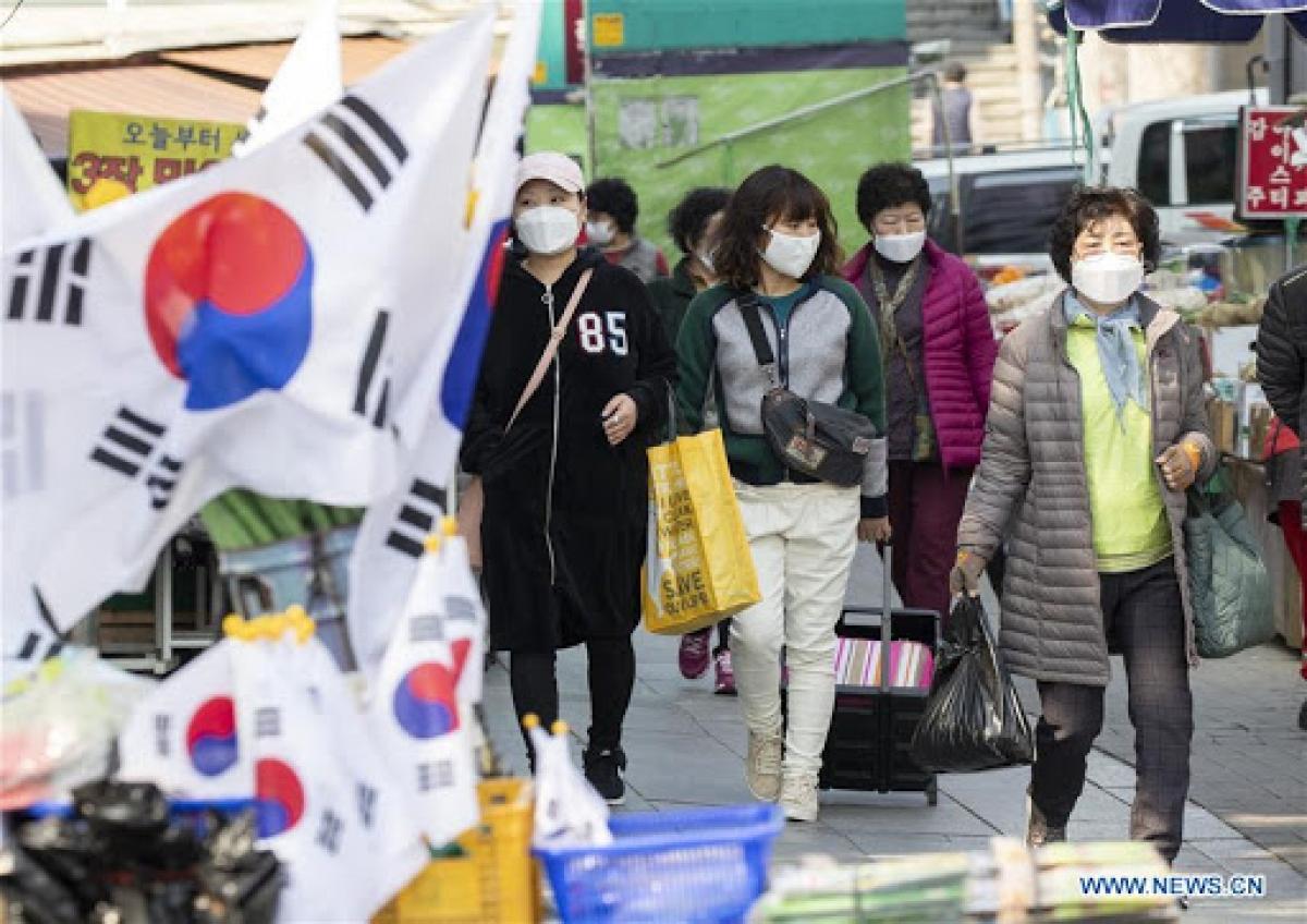 Dịch Covid-19 lan rộng tại Hàn Quốc. Ảnh: News.cn