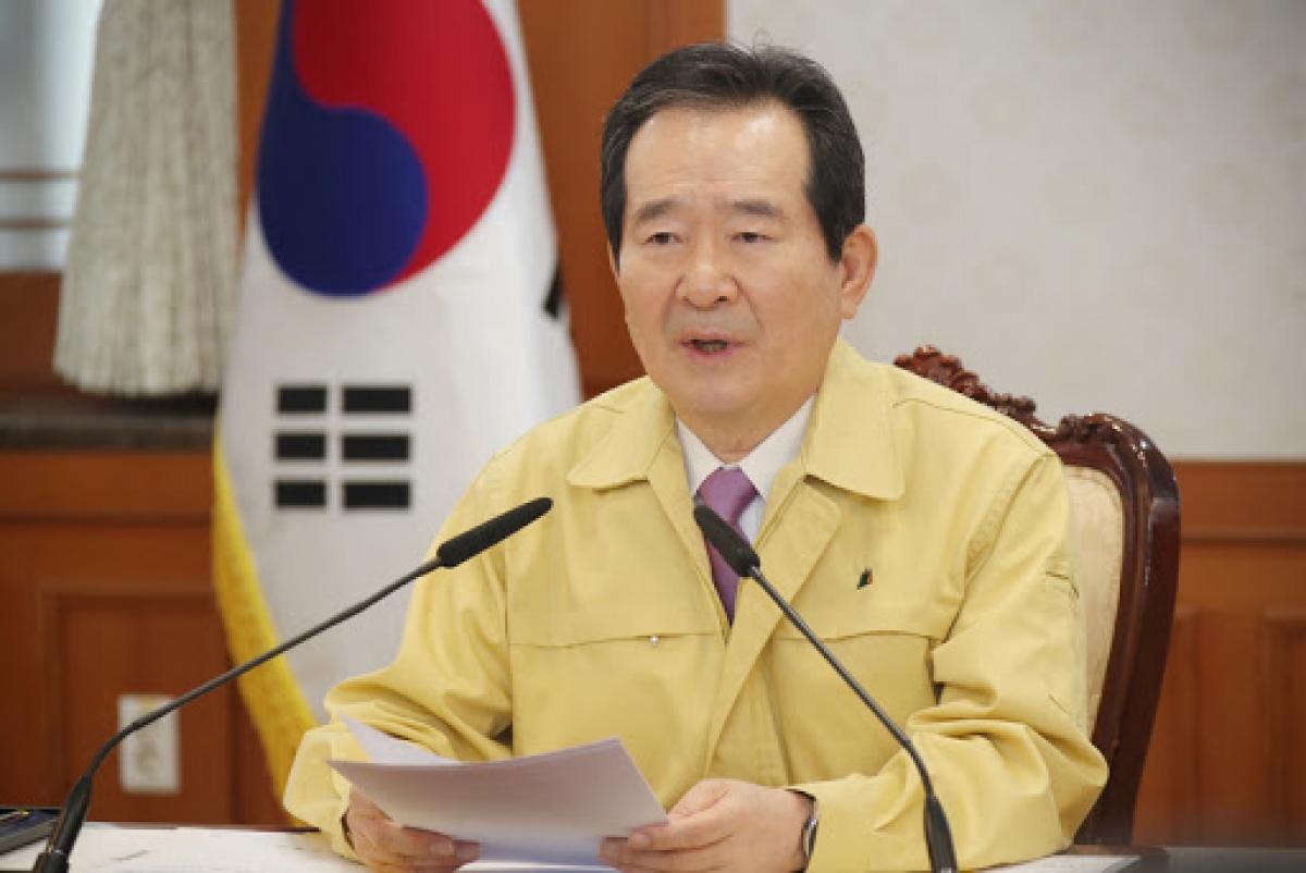 Thủ tướng Hàn Quốc Chung Sye-kyun. Ảnh: TBS