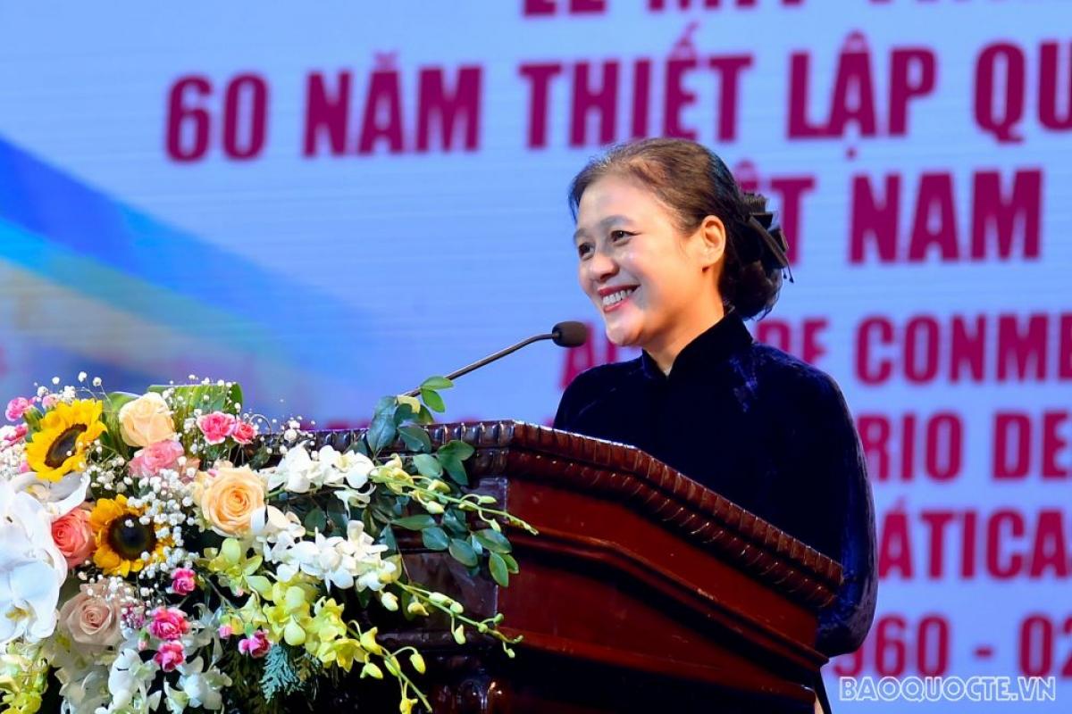 Chủ tịch Liên hiệp các tổ chức hữu nghị Việt Nam Nguyễn Phương Nga (Ảnh: baoquocte.vn)