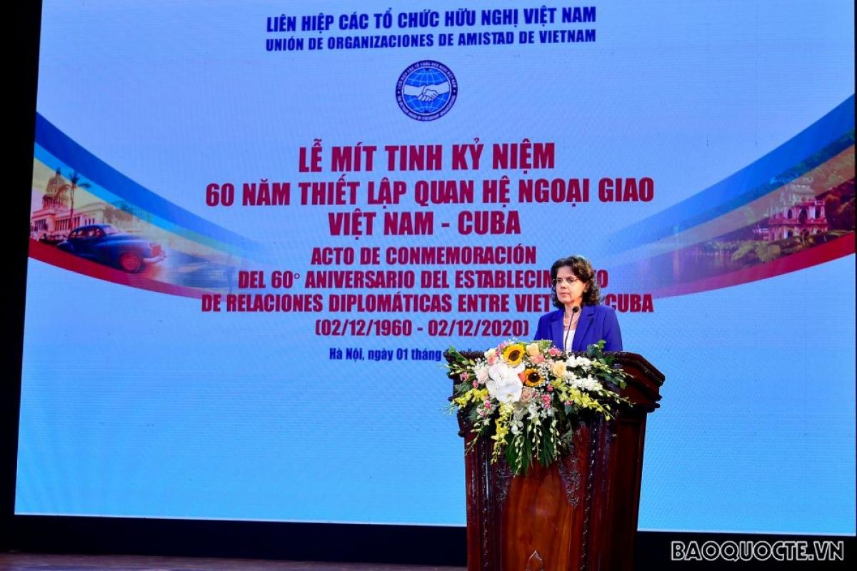 Đại sứ Cuba tại Việt Nam Lianys Torres Rivera (Ảnh: baoquocte.vn)