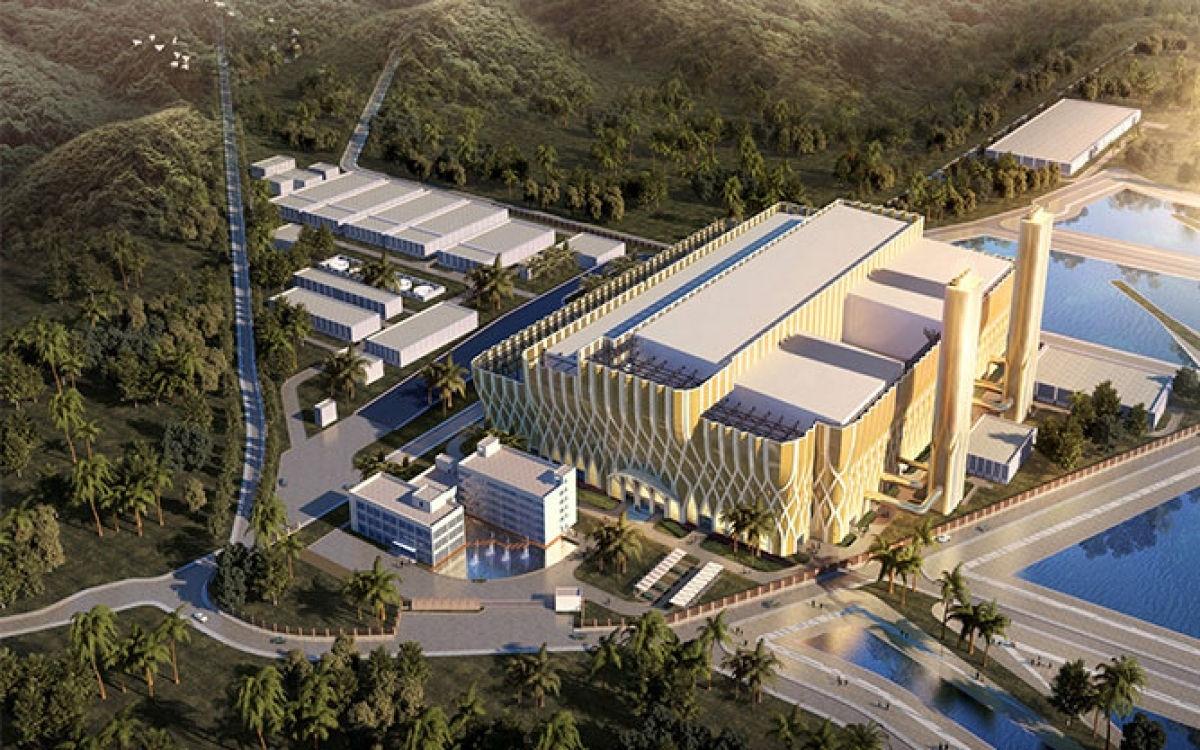 Phối cảnh tổng thể nhà máy điện rác Sóc Sơn.