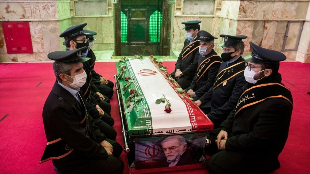 Tang lễ ông Mohsen Fakhrizadeh ngày 30/11/2020. Ảnh: Reuters/WANA