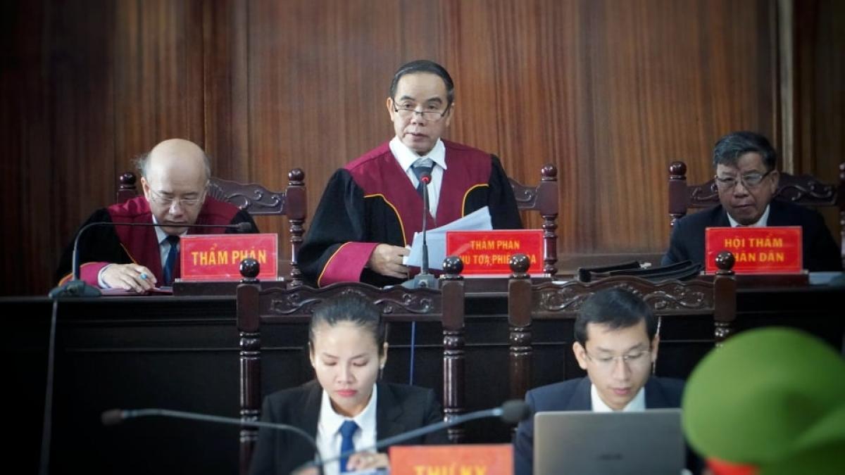 HĐXX tuyên án đối với các bị cáo vụ cao tốc Trung Lương
