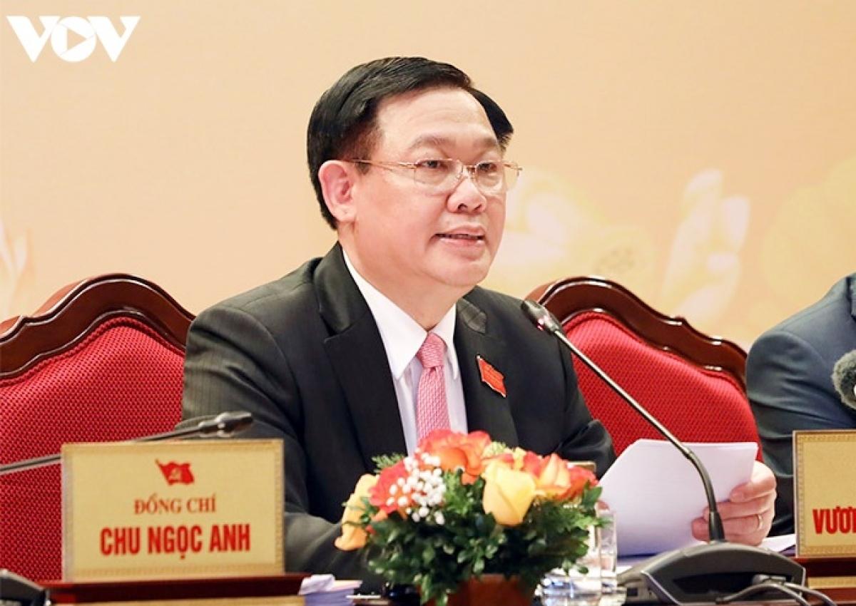 Bí thư Thành ủy Hà Nội - Vương Đình Huệ.