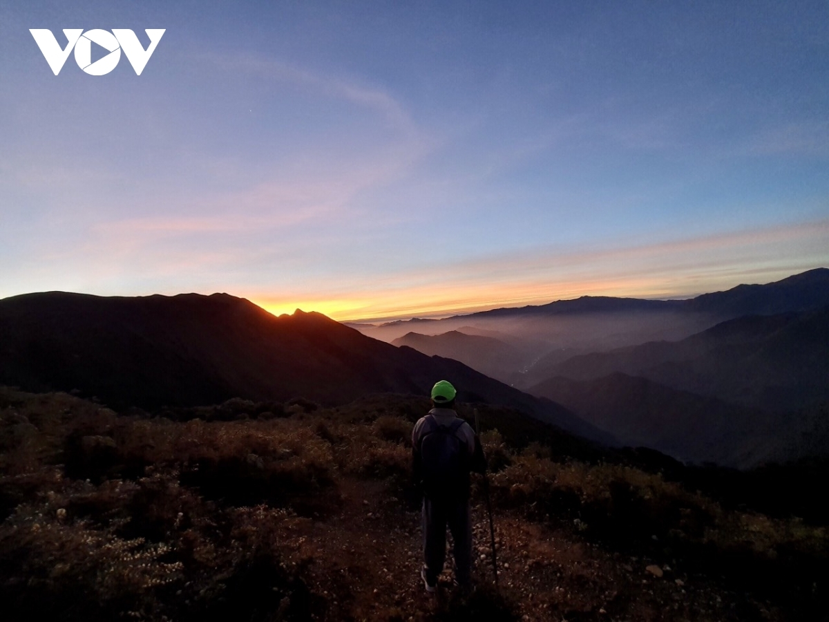 A view of Ta Chi Nhu Mountain at dawn