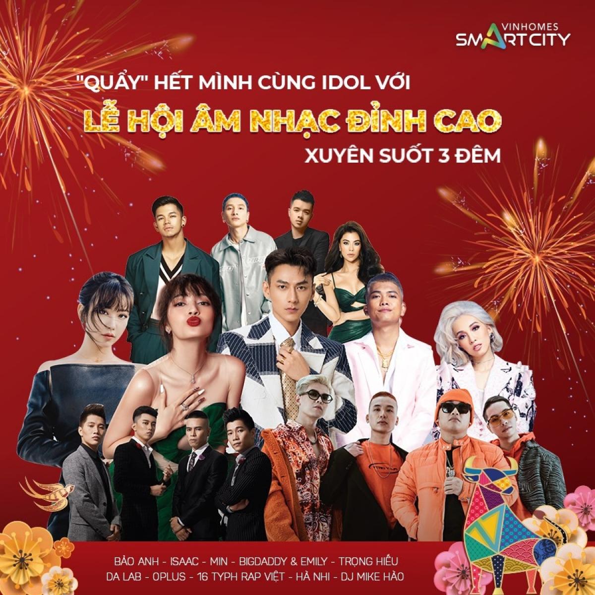 """Dàn nghệ sĩ """"đình đám"""" sẽ góp mặt trong lễ hội âm nhạc tại Lễ hội chào xuân 2021 - """"Vi vu Tết Châu Á""""."""