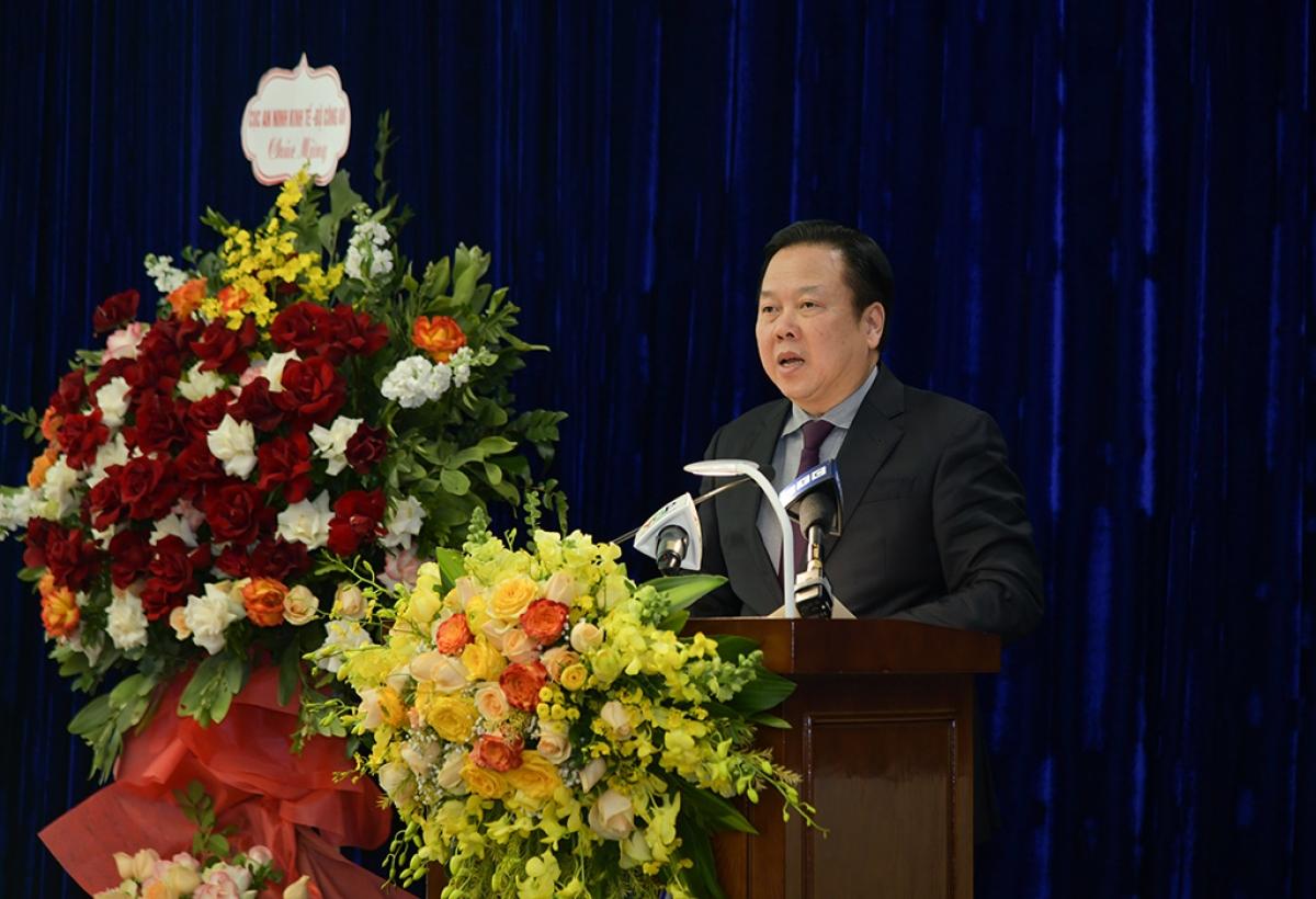 Chủ tịch Ủy ban Quản lý vốn nhà nước tại doanh nghiệp Nguyễn Hoàng Anh phát biểu đáp tiếp thu ý kiến chỉ đạo của Phó Thủ tướng Thường trực Chính phủ