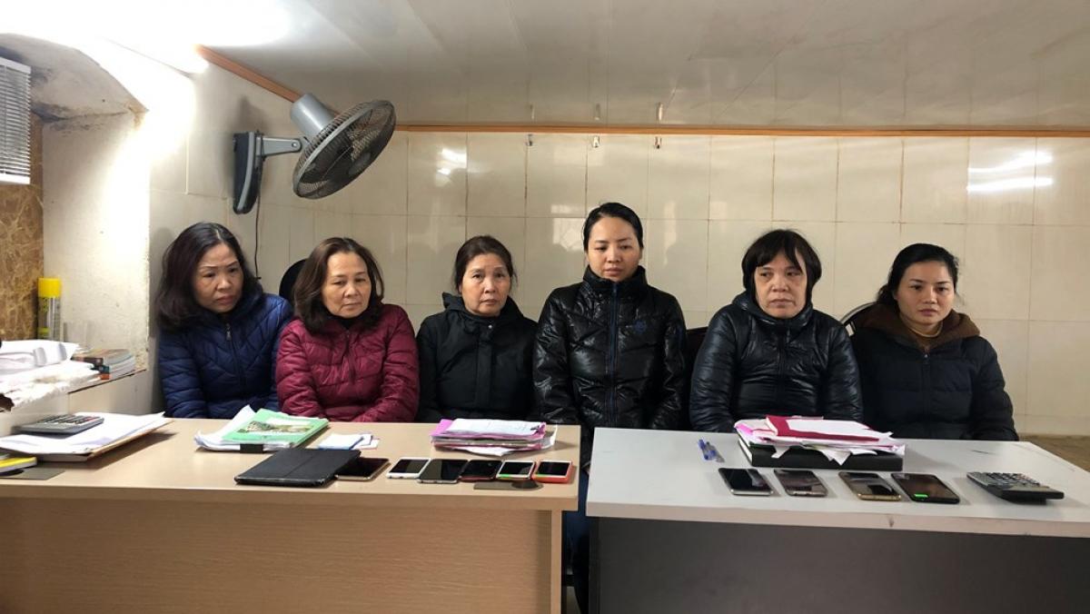 6 nữ quái tại cơ quan Công an. (Ảnh: CA Hải Phòng)