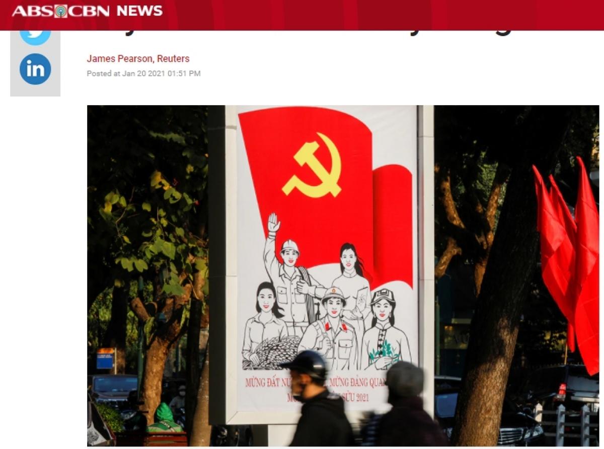Truyền thông quốc tế đưa tin về Đại hội Đảng XIII. (Ảnh chụp màn hình)