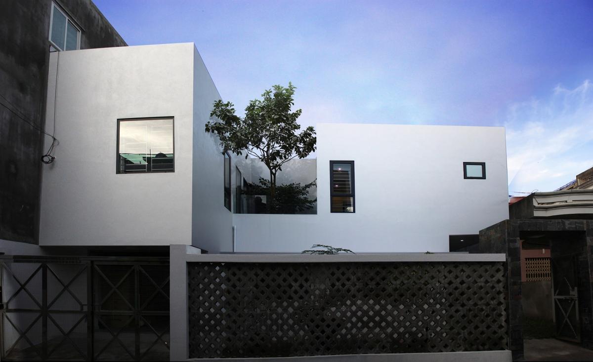 Ngôi nhà có mặt tiền giản dị, trang nhã.